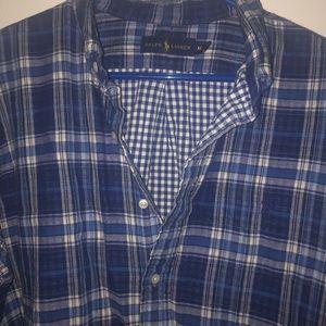 Polo flannel button down
